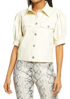 KENDALL + KYLIE Puff Sleeve Button-Up Top