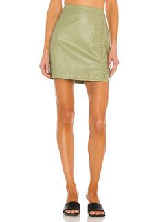 KENDALL + KYLIE Vegan Leather Mini Skirt