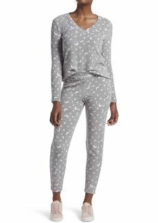 KENDALL + KYLIE Women's 2 Piece Pajama Sleepwear Set  Grey Heather