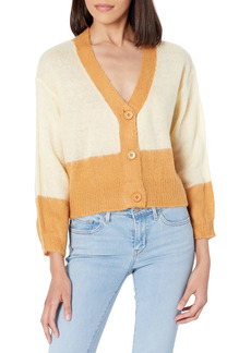 KENDALL + KYLIE Women's Block Cropped Cardigan  S