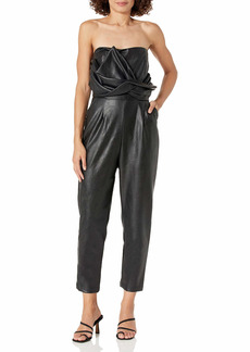 KENDALL + KYLIE Women's Front Tie Sleeveless Jumpsuit