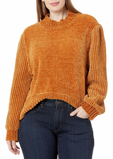 KENDALL + KYLIE Women's Mock Neck Balloon Sweater