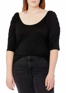KENDALL + KYLIE Women's Puff Sleeve Knit Top  XL