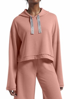 KENDALL + KYLIE Women's Solid Cropped Hoodie