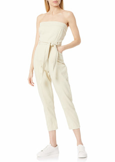 KENDALL + KYLIE Women's Strapless Jumpsuit with Waist Tie  S