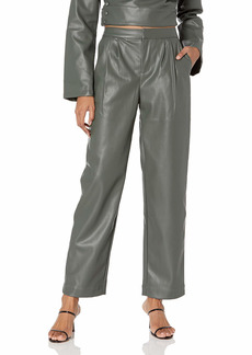 KENDALL + KYLIE Women's Vegan Leather Cropped Pant