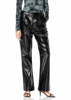 KENDALL + KYLIE Women's Vegan Leather Wide Leg Pant