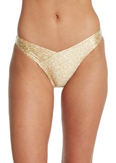 Kendall + Kylie Leopard Print High Leg Bikini Bottoms