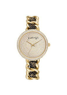 Women's Kendall + Kylie Braided Black Stainless Steel Mesh Strap Analog Watch 40mm