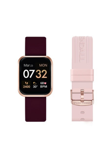 Women's Kendall + Kylie Merlot and Blush Straps Smart Watch Set 36mm