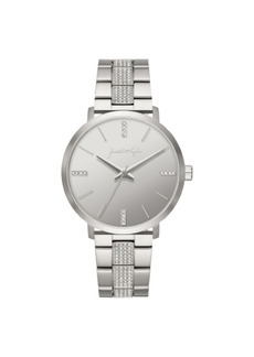 Women's Kendall + Kylie Silver Tone Crystal Stainless Steel Strap Analog Watch 40mm