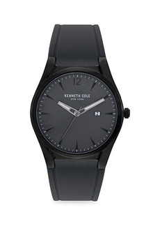 Kenneth Cole Classic Stainless Steel & Silicone Strap Watch