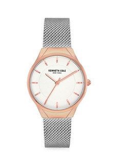 Kenneth Cole Classic Two-Tone Stainless Steel & Mesh Bracelet Watch