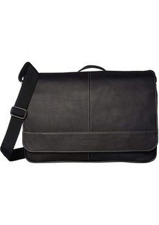"Kenneth Cole Colombian Leather 15"" RFID Messenger Bag"