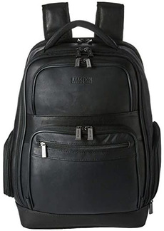 """Kenneth Cole Colombian Leather 15.6"""" RFID Computer Backpack"""