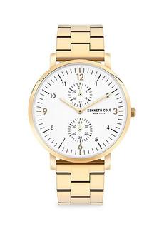 Kenneth Cole Dress Sport Goldtone Stainless Steel Bracelet Watch