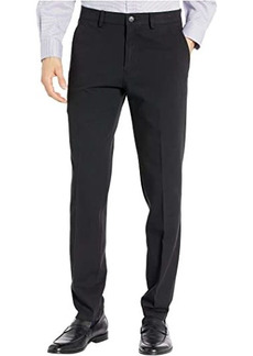 Kenneth Cole Four-Way Stretch Solid Twill Slim Fit Flat Front Chino