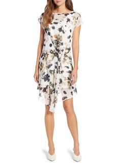Kenneth Cole New York Gathered Front A-Line Dress