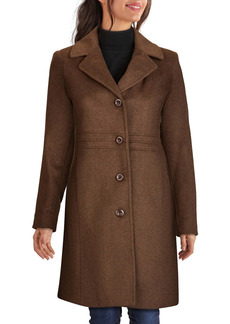 Kenneth Cole New York Longline Wool Blend Coat