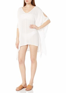 Kenneth Cole New York Women's Cold Shoulder Tunic Swimsuit Cover Up  XXS