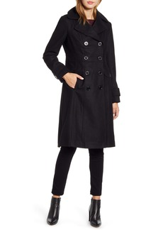 Kenneth Cole New York Wool Blend Military Coat