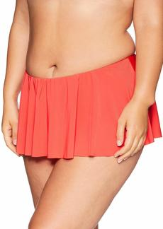 Kenneth Cole REACTION Women's Plus Size Skirted Swimsuit Bottom