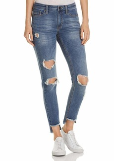 Kenneth Cole Women's Jess Skinny Jean with Step Hem Pacific wash