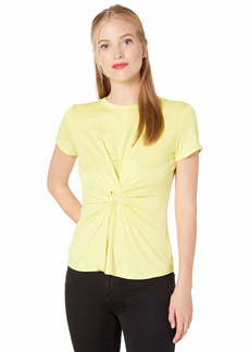 Kenneth Cole Women's Knotted Front TOP  L