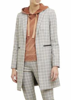 Kenneth Cole Women's Long Blazer Deco Glen Plaid PE S