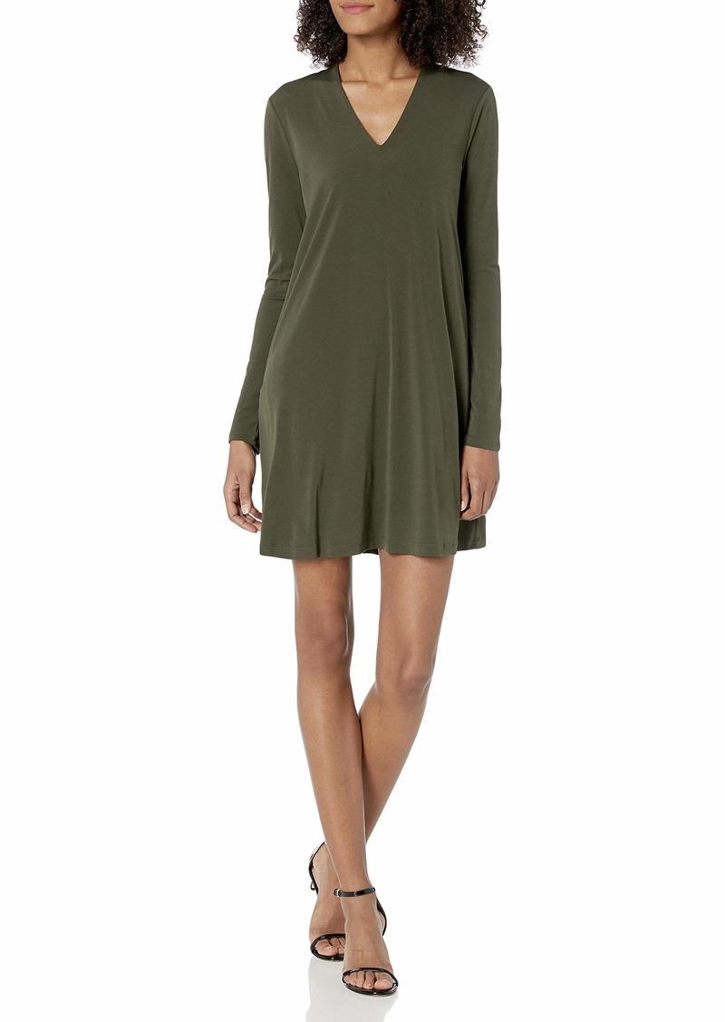 Kenneth Cole Women's Long Sleeve V-Neck Dress  S