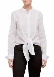 Kenneth Cole Women's Mandarin Collar Blouse  M