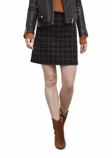 Kenneth Cole Women's The Flex City Skirt Window pane