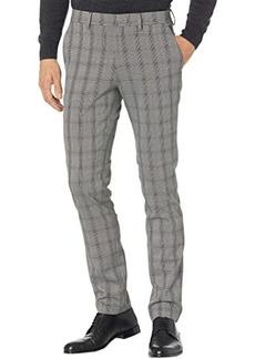 Kenneth Cole Skinny Fit Stretch Traditional Glen Plaid Flex Waist Dress Pants