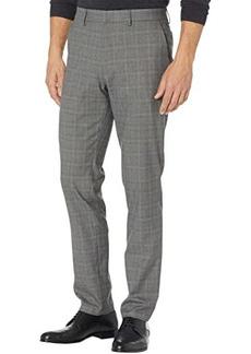 Kenneth Cole Slim Fit Stretch Texture Glen Plaid Windowpane Flex Waist Dress Pants