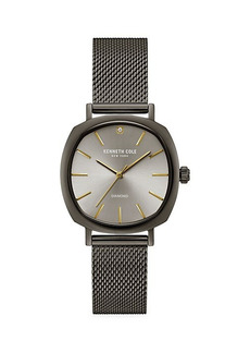 Kenneth Cole Stainless Steel & Diamond Mesh Bracelet Watch