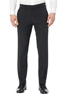 """Kenneth Cole """"Technicole"""" Stretch Plain Weave Slim Fit Flat Front Flex Waistband Dress Pants"""