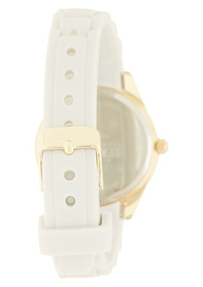 Kenneth Cole Women's Reaction 3 Hands Mother Of Pearl Light Dial Silicone Watch, 36mm