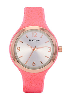 Kenneth Cole Women's Reaction Silicone Strap Watch, 45mm