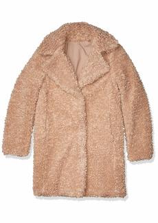 kensie Women's Faux Fur Reversible Coat  S