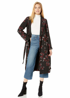 kensie Women's Rose Noir Trench Coat  Extra Small