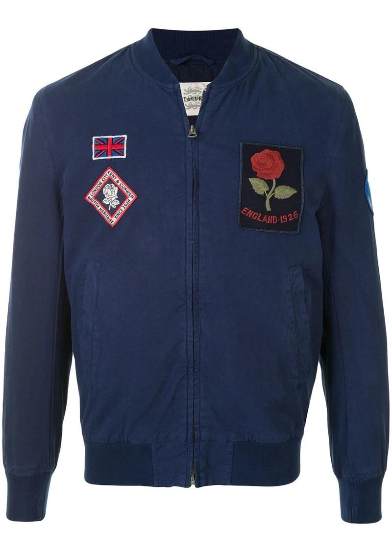 Kent & Curwen badge-appliqué bomber jacket