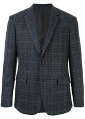 Kent & Curwen check pattern fitted blazer