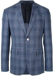 Kent & Curwen checked tailored blazer