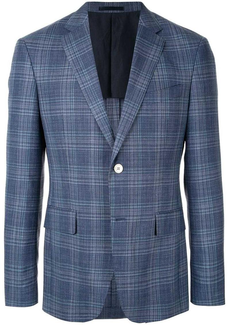 Kent & Curwen checked tailored blazer