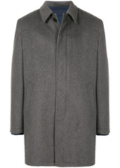 Kent & Curwen concealed placket single-breasted coat