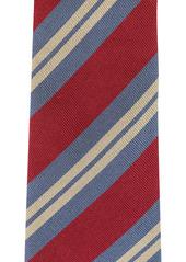 Kent & Curwen diagonal-stripe silk tie