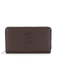 Kent & Curwen embossed leather wallet