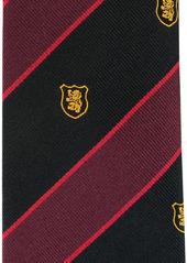 Kent & Curwen embroidered-logo silk tie
