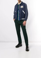 Kent & Curwen embroidered patch bomber jacket