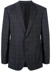 Kent & Curwen faded check single-breasted blazer